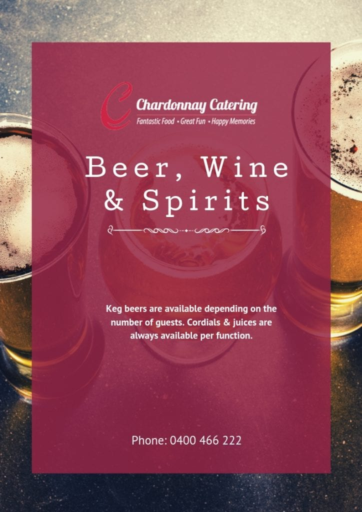 Chardonnay Catering Beers