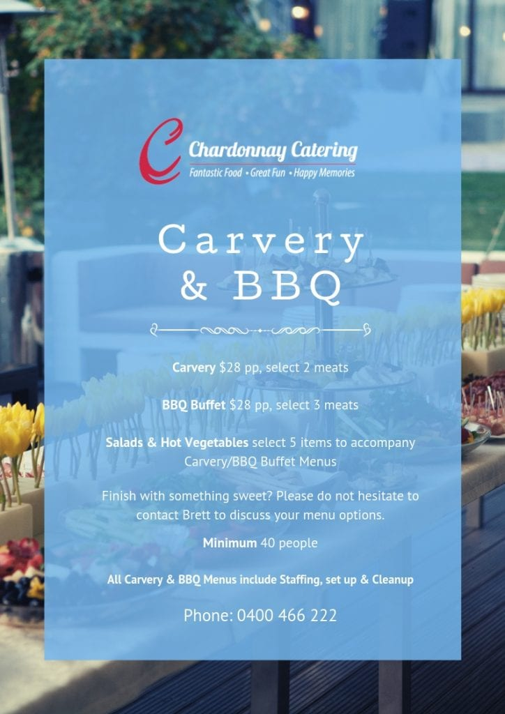 Chardonnay Catering - Carvery Buffet_BBQ