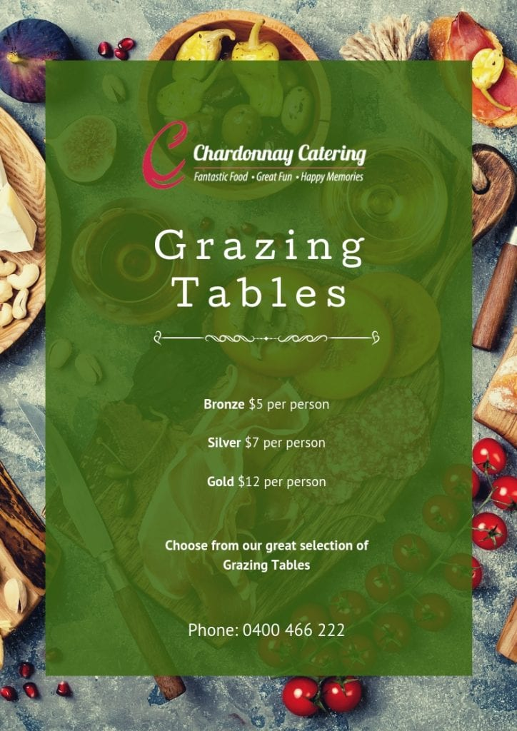 Chardonnay Catering Grazing Table